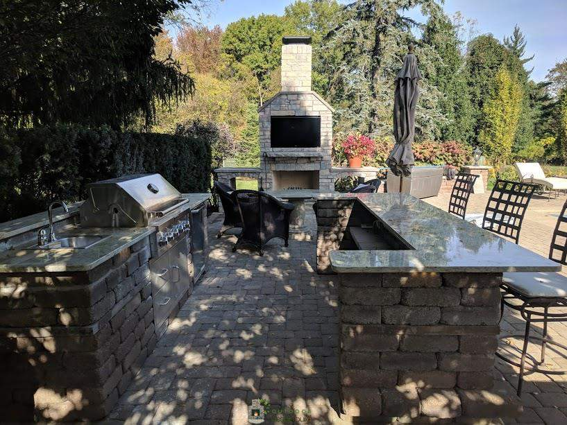 Outdoor Fireplace and Grill Station Cincinnati