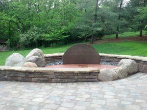 Cincinnati Outdoor Fireplace outdoor fireplace Outdoor Fireplaces backyard design with open fireplace Cincinnati