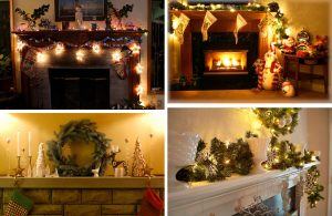 christmas-fireplace-decorations  Holiday Decorating tips christmas fireplace decorations