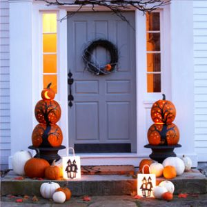 halloween-door-decor-1009-lg  Step up your curb appeal halloween door decor 1009 lg