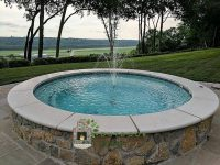 Spa with Stone Coping