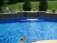 new swimming pool waterfall