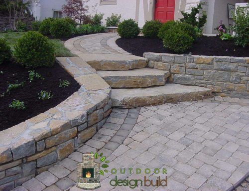 Front Walkway and Natural Stone Steps