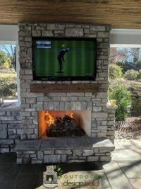 New Outdoor Fireplace